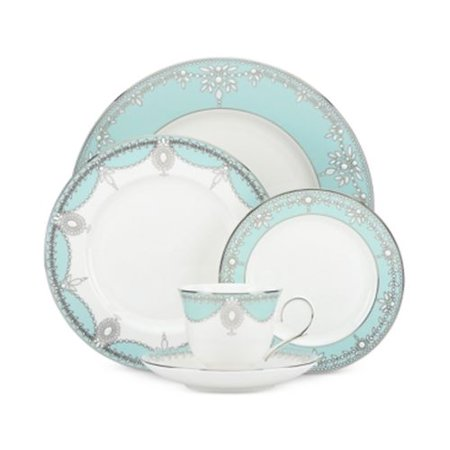 (Marchesa Empire Pearl Turquoise Dinnerware 5 Piece Place Set)
