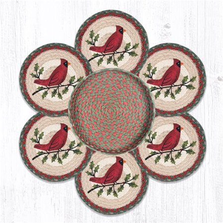 Capitol Importing 56-025HC 10 x 10 in. TNB-25 Holly Cardinal Trivets in a (Cardinal Basket)