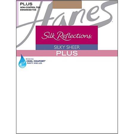 Silk Reflections Plus Sheer (Silk Reflections Plus Enhanced Toe Sheer Pantyhose )