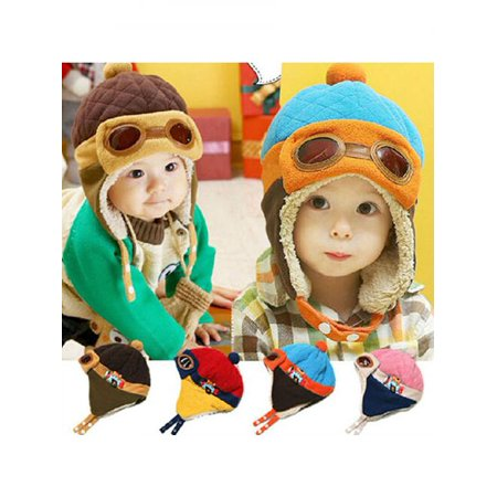 030d7d8551f Girl12Queen - Winter Baby Earflap Toddler Girl Boy Kids Pilot Aviator Cap  Warm Soft Beanie Hat - Walmart.com