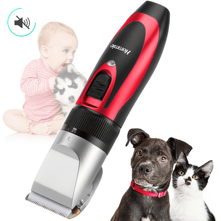 Hommie Pet Dogs and Cats Electric Hair Trimmer Grooming Clippers Kit Rechargeable (Dog Hair Clippers)
