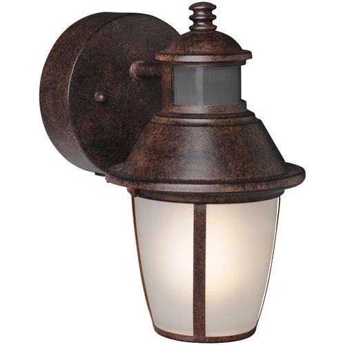 Brinks 180 Degree Tisdale Motion Activated Security Lantern, Antique Bronze