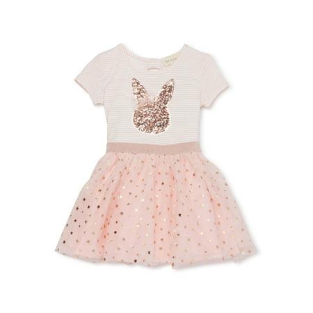 Girls Dresses On Sale (Btween Girls' 4-6X Easter Sequin Bunny Tutu)