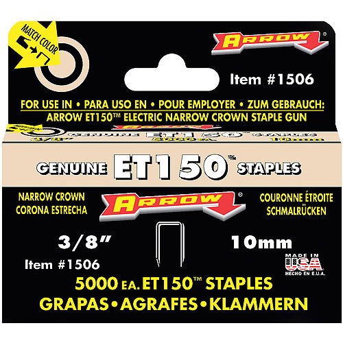 "Arrow Fastener 1506 3/8"" ET150 Staples"