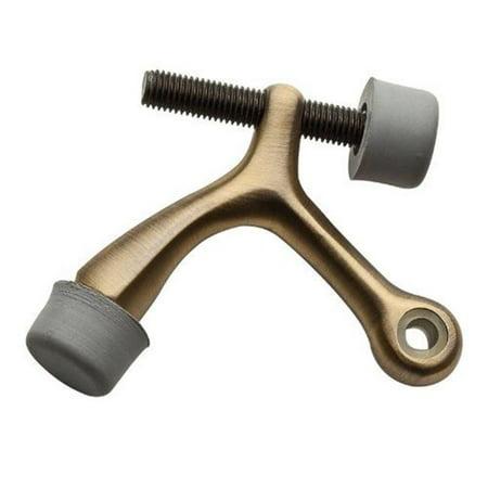 Baldwin 9BR7011-006 Matte Brass and Black Hinge Pin Door Stop Brass Door Hinges