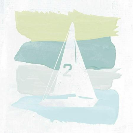 Seaside Sailboat (Seaside Swatch Sailboat Poster Print by Moira)