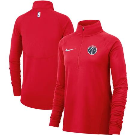 - Washington Wizards Nike Women's Element Performance Raglan Sleeve Half-Zip Pullover Jacket - Red