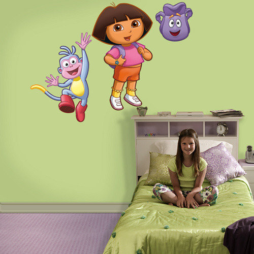 Fathead Nickelodeon Dora, Backpack and Boots Wall Decal