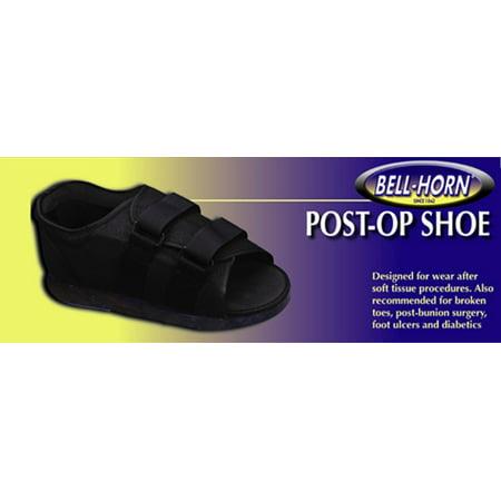 ProCare Cast Shoe Small Male 7 to 9 Open Toe / Closed Heel Black Unisex