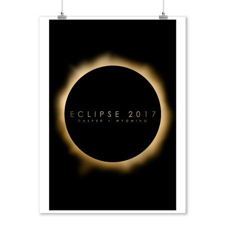 Casper, Wyoming - Eclipse 2017 - Lantern Press Artwork (9x12 Art Print, Wall Decor Travel Poster)