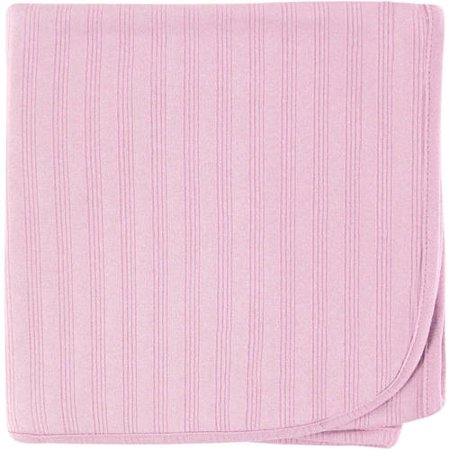 Touched by Nature Baby Boy and Girl Organic Cotton Swaddle Blanket - (Pink Swaddle Blanket)