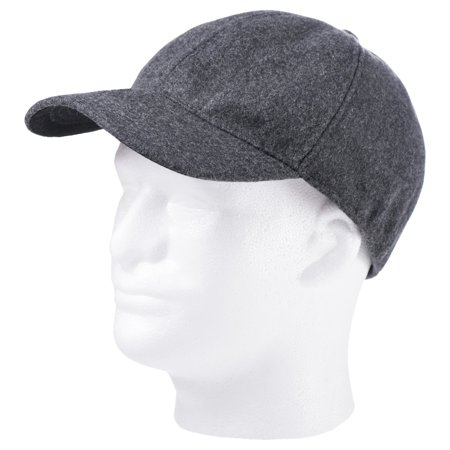 - Totes Isotoner Men's Wool Blend Charcoal Grey Winter Baseball Cap With Drop Down Interior Earflaps