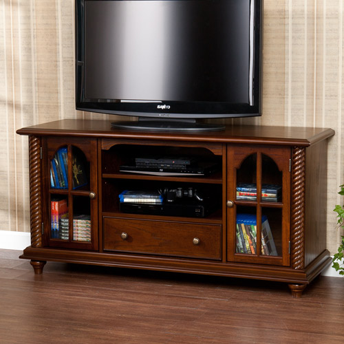 """Southern Enterprises Tobacco Woodrose TV/Media Stand for TVs up to 46"""""""