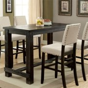 Furniture of America Stanton Pub Table in Antique Black by Pub Tables