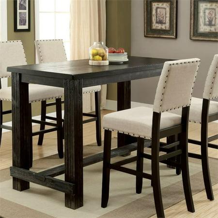 Stanton Fleece - Furniture of America Stanton Pub Table in Antique Black