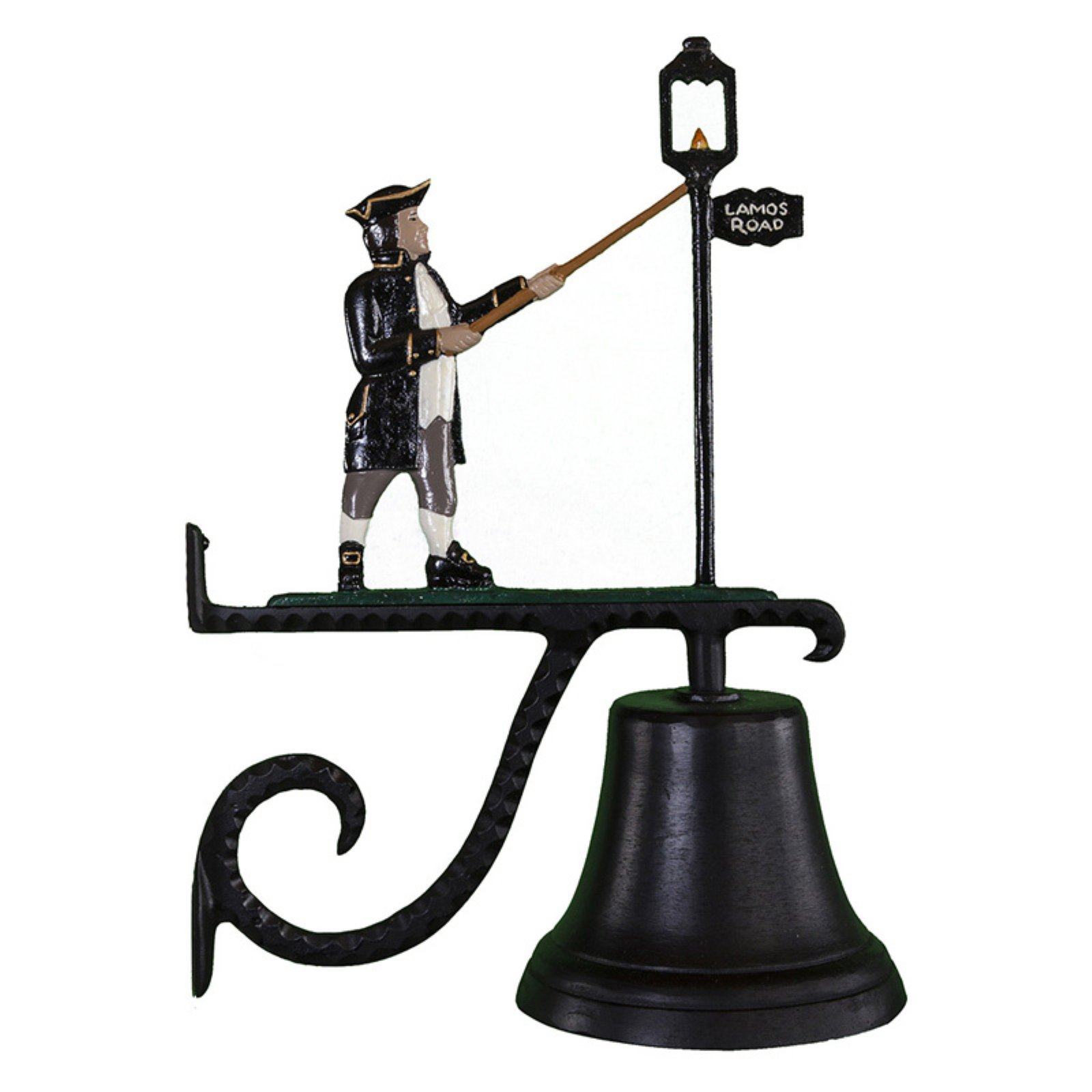 Cast Bell with Color Lamplighter Ornament