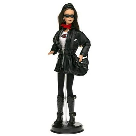 harley-davidson barbie #3 brunette barbie doll - Motorcycle Dolly Garage