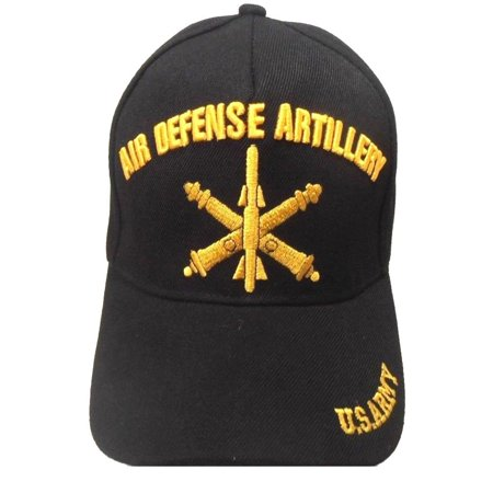 US Army Hat Air Defense Artillery Black Adjustable Cap