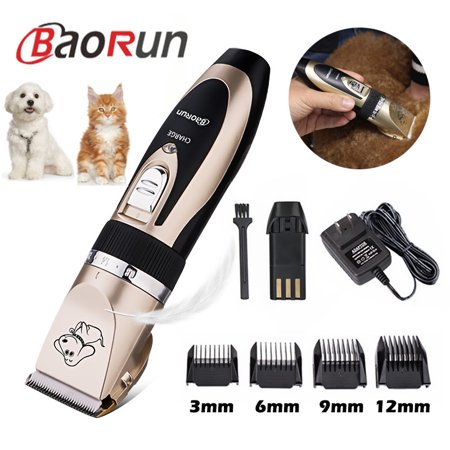 BAORUN Professional Quiet Mute Cordless Electric Pet Cat Dog Hair Cutting Clipper Trimmer Shaver Grooming Kit