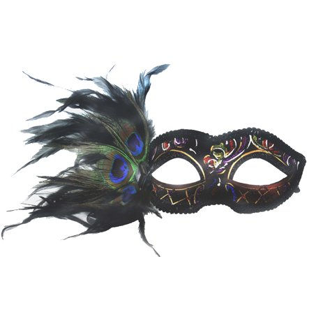 FANCY VENETIAN MASK - Masquerade - PEACOCK - Masquerade Mask With Feathers