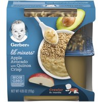 (6 Pack) Gerber Lil' Mixers, Apple Avocado with Quinoa Crisp, 4.05 oz Container