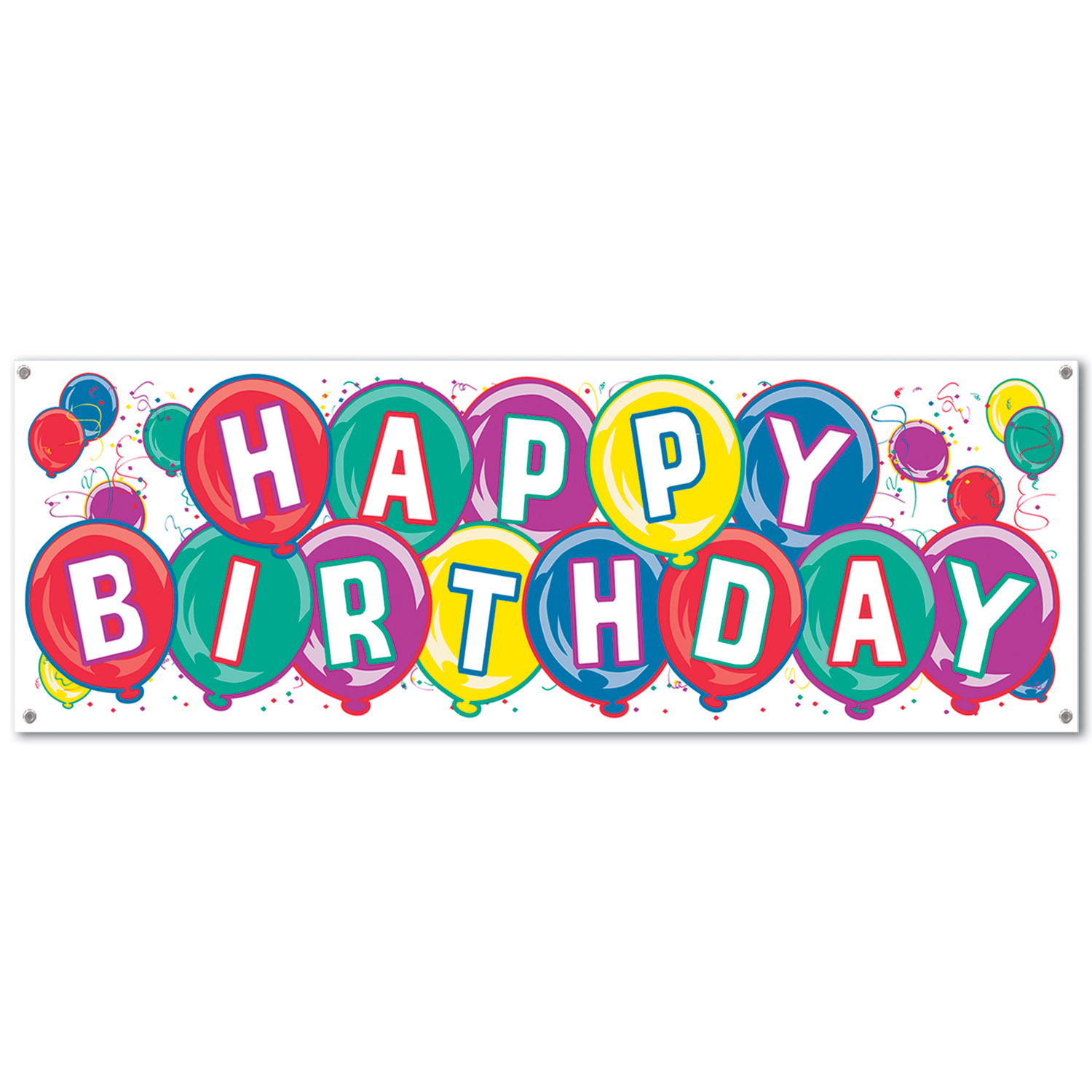 Happy Birthday Sign Banner (Pack Of 12