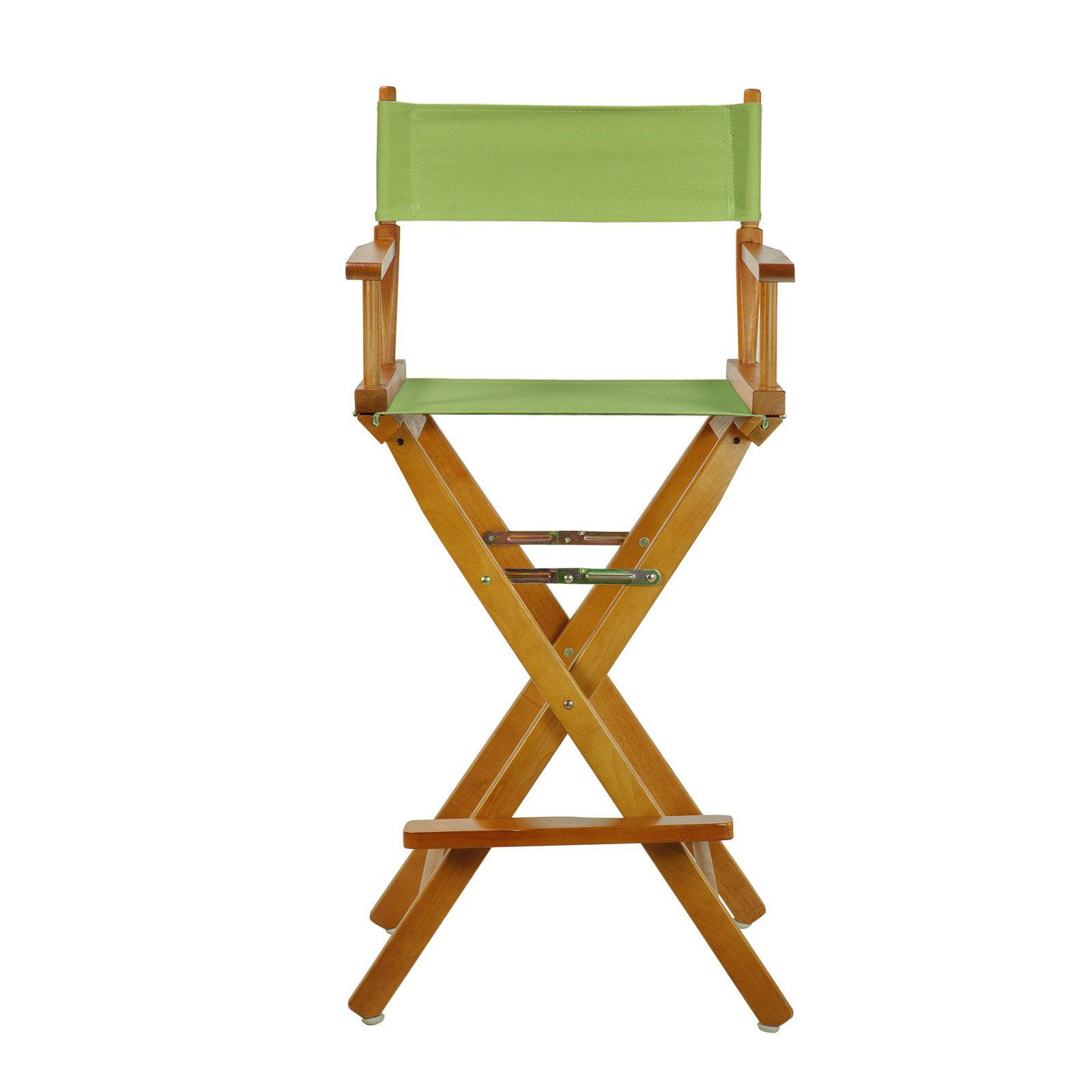 "30"" Director's Chair Honey Oak Frame-Sage Canvas"