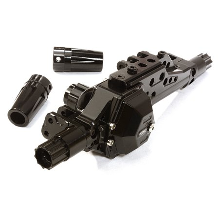 Integy RC Toy Model Hop-ups C26674BLACK Billet Machined Rear Axle Assembly w/o Internals for Axial 1/10 Yeti Off-Road