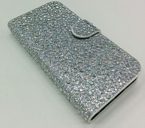iPhone 5/5S Bead Wallet Style Case - Silver - image 1 of 1