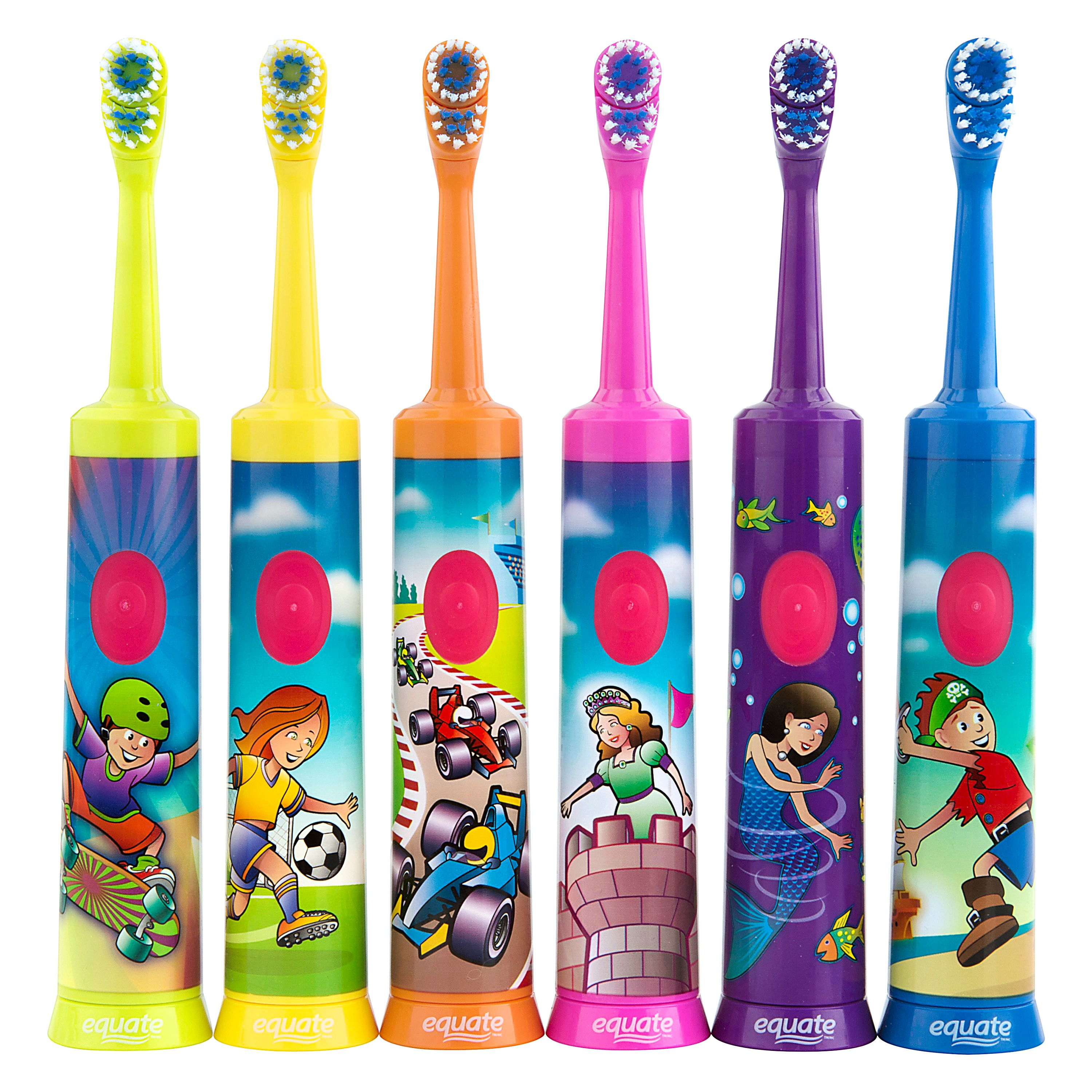 Equate Kids Soft Power Toothbrush, 1 Ct