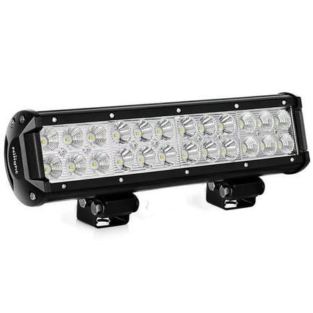 LED Light Bar Nilight 12 Inch 72W LED Work Light Spot Flood Combo LED Lights Led Bar Driving Fog Lights Jeep Off Road Lights Boat Lighting ,2 Years (Best Led Bar Driving Lights)
