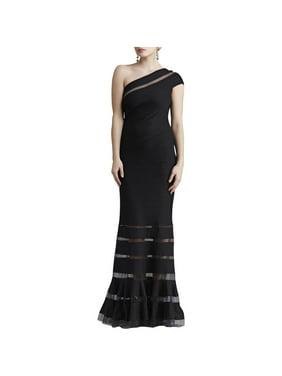 d6ee80d669ae0c Product Image Tadashi Shoji Womens Petites One Shoulder Pintuck Evening  Dress