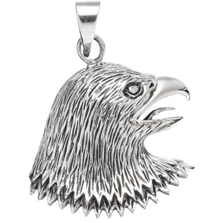 Eagle Head Facing Side Sterling Silver - Silver Eagle Head