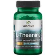 Swanson L-Theanine - Double Strength 200 mg 60 Veggie Capsules
