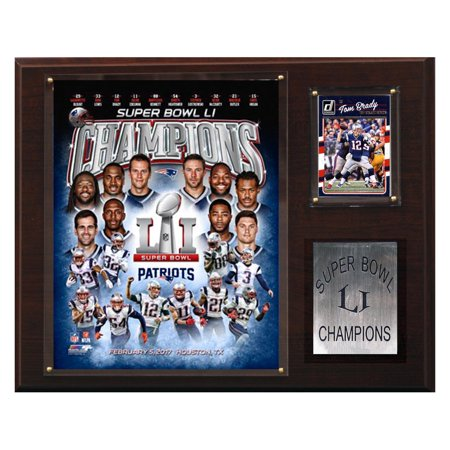 C & I Collectables NFL 2017 Super Bowl 51 Champions New England Patriots Plaque