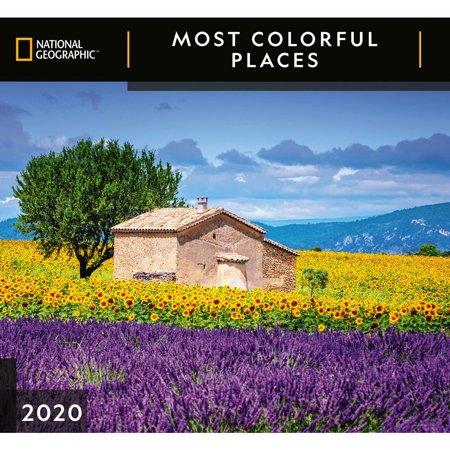 Calendars Most Colorful Places National Geographic Wall Calendar FSC Certified Paper - 12 Months ()