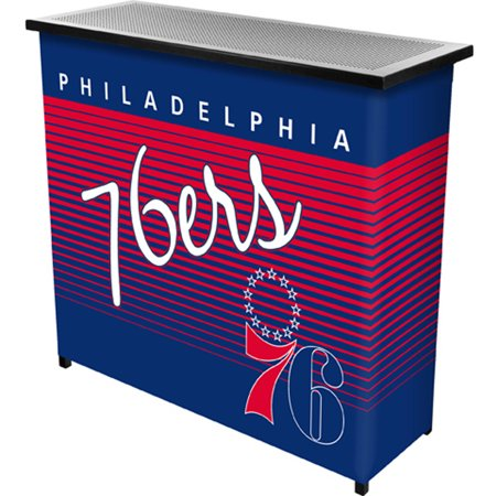 Philadelphia 76ers Hardwood Classics NBA Portable Bar with Carrying Case by