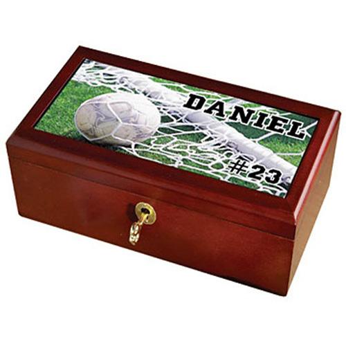Personalized Sports Keepsake Box - Soccer