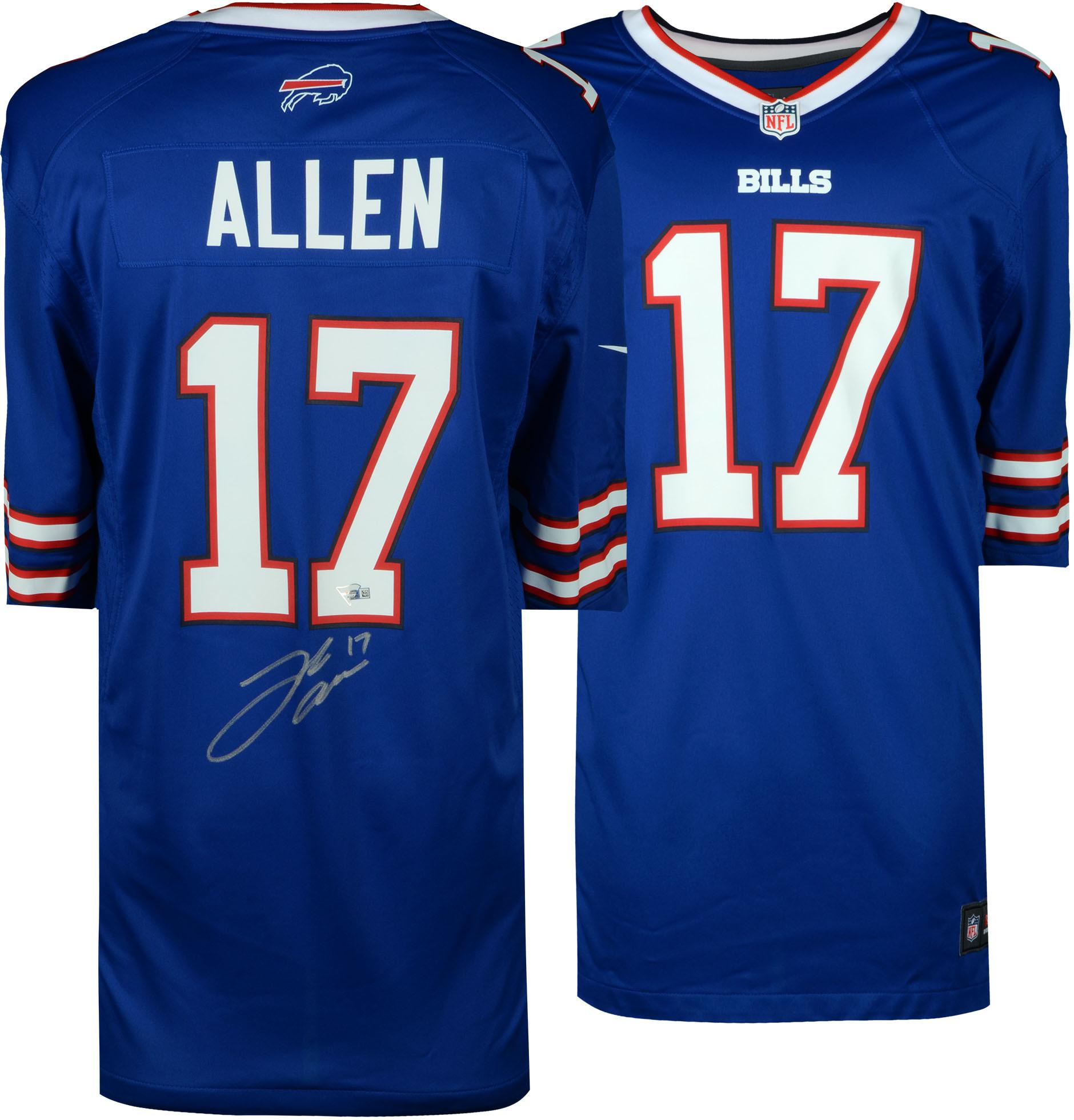 Josh Allen Buffalo Bills Autographed Blue Game Jersey - Fanatics Authentic Certified - Walmart.com