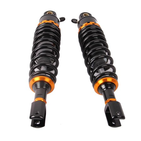Possbay Pair 320mm Universal Motorcycle Air Shock Absorbers for Honda Suzuki Yamaha Kawasaki ATV UTV Go Kart Quad Dirt Sport Bikes Black &
