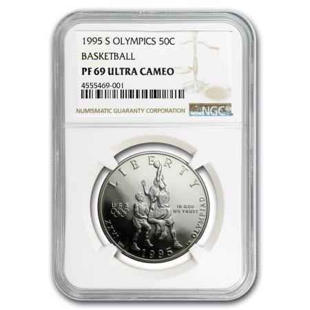 Clad Half Dollars - 1995-S Olympic Basketball 1/2 Dollar Clad Commem PF-69 NGC