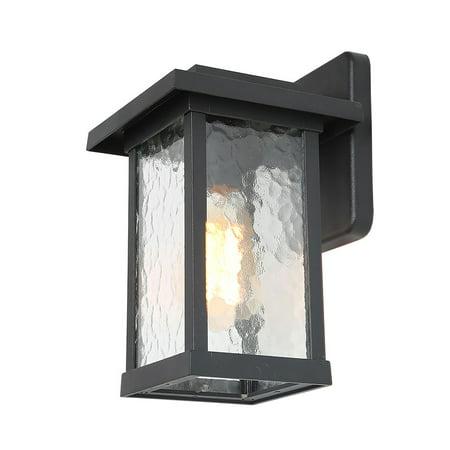 LNC 1 Light Outdoor Wall Lantern Textured Glass Wall Lighting ()