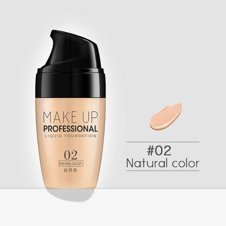 Marainbow Face Makeup Base Liquid Foundation Concealer Whitening Primer Waterproof BB Cream for Moisturizing, Concealing Spot, Brighten Skin Tone (Nature)