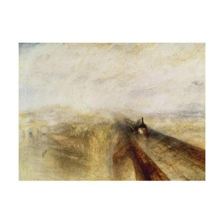 Rain, Steam, and Speed (The Great Western Railway), 1844 Print Wall Art By J. M. W.