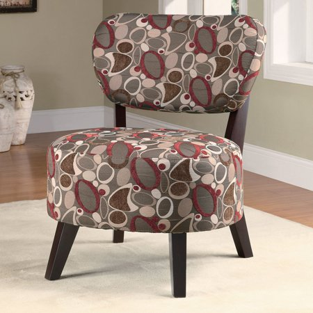 Groovy Coaster Company Accent Chair Brown Red With Retro Oblong Pattern Gmtry Best Dining Table And Chair Ideas Images Gmtryco