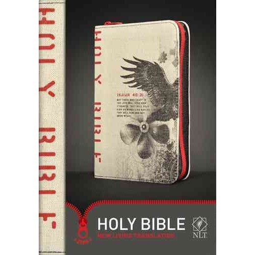 Holy Bible: New Living Translation, Red Zipper, Canvas
