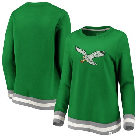 new style 6625c 8e211 Philadelphia Eagles NFL Pro Line by Fanatics Branded Women's True Classics  Retro Stripe Pullover Sweatshirt - Kelly Green/Gray