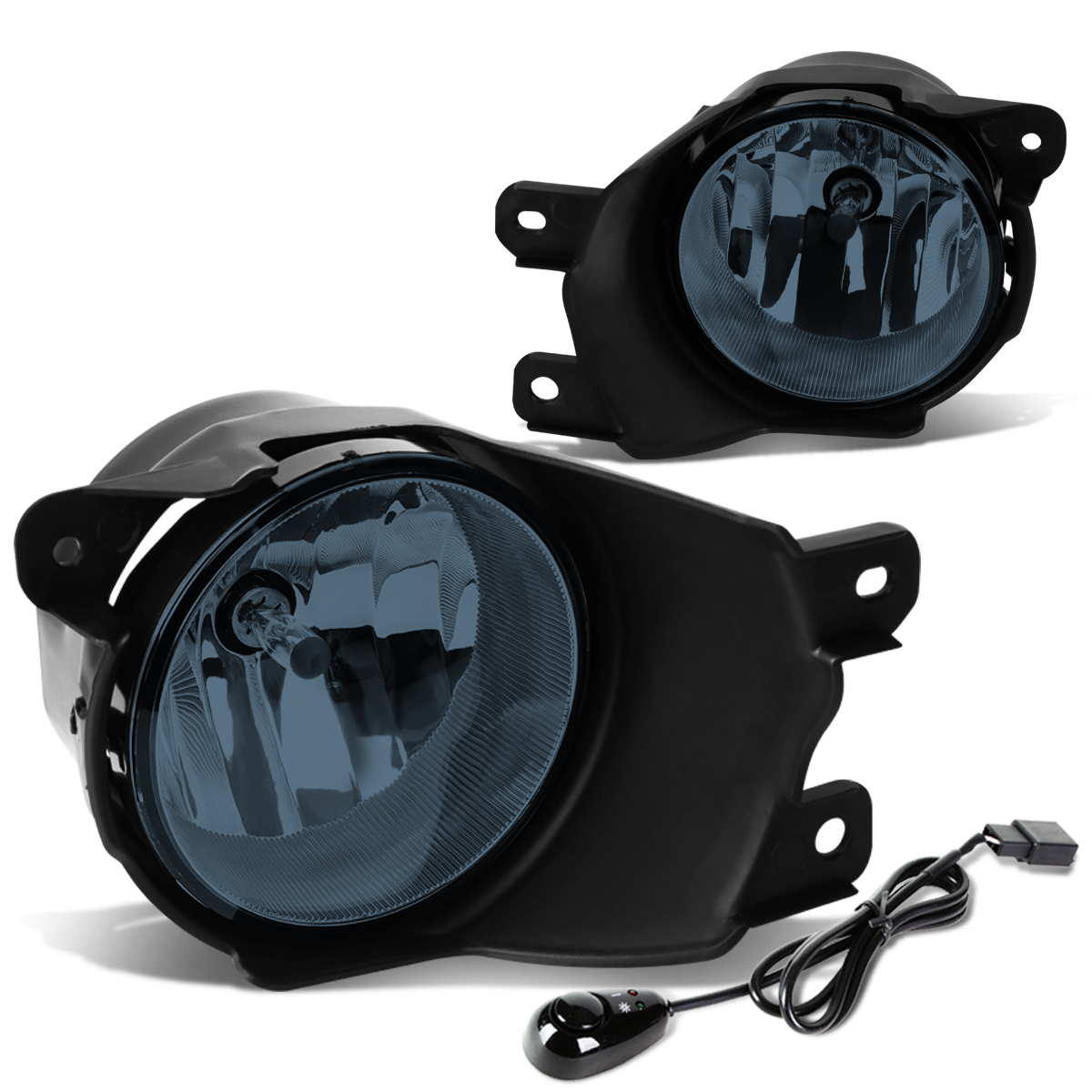For 08-16 Toyota Sequoia Pair Bumper Driving Fog Light/Lamp+Switch Smoked Lens 09 10 11 12 13 14 15
