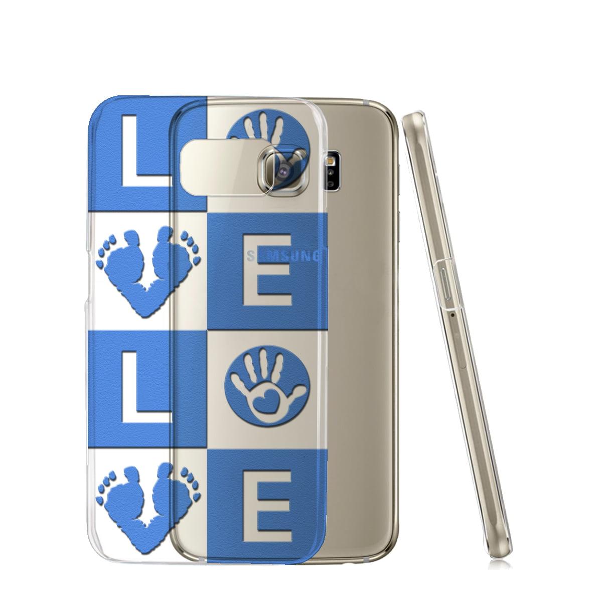 KuzmarK™ Samsung Galaxy S6 Edge Clear Cover Case - Love Baby Boy Blue