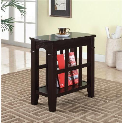 Furniture of America IDF-AC112 Deltrax Oval Side Table